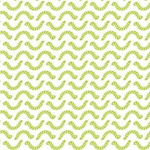Little Bright Green Inchworms, Creepy Crawly Citron Worms, Fun Kids T-Shirt Print