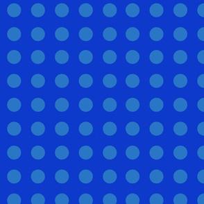 big blue polka dots
