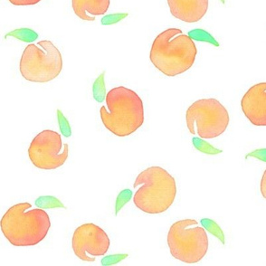 Watercolor Peaches