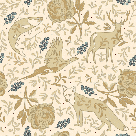 Countryside lodge view fabric by camcreative on Spoonflower - custom fabric