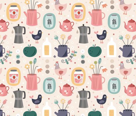 kumquat fabric by la_fabriken on Spoonflower - custom fabric