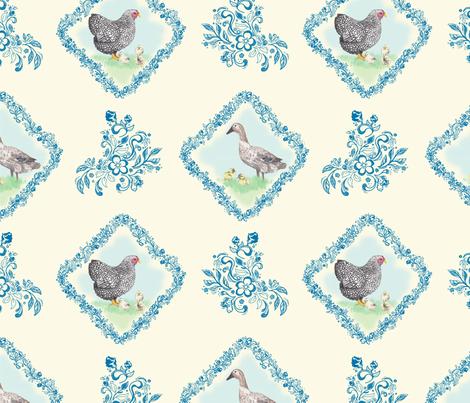 farmhouse chick fabric by lemon_chiffon on Spoonflower - custom fabric