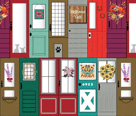 Modern Farmhouse Front Doors fabric by stasiajahadi on Spoonflower - custom fabric