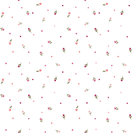 Tulips and Dots fabric by yana_walther on Spoonflower - custom fabric