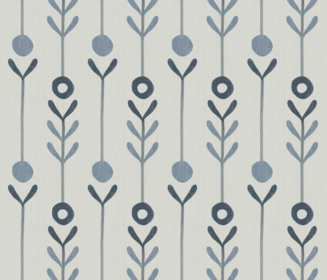 farmhouse flowers fabric by anita_prints on Spoonflower - custom fabric