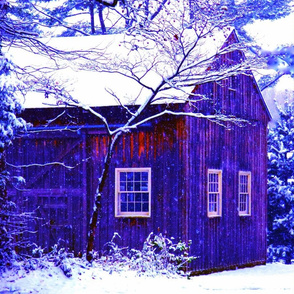 Modern Farmhouse - Winter's Barn in Vernal Snow