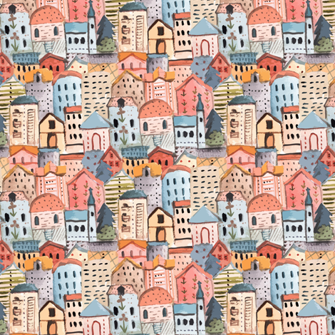 CITY fabric by gomboc on Spoonflower - custom fabric