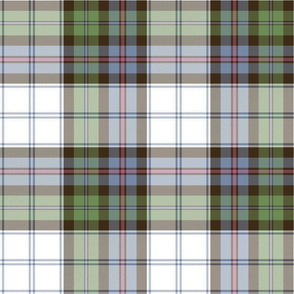 "Campbell of Cawdor dress tartan, 12"" faded"