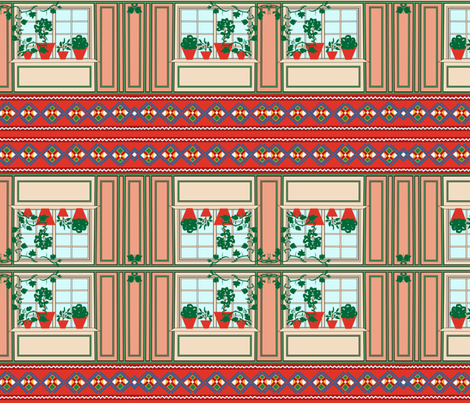 Larsson Farm House fabric by nafabian_design on Spoonflower - custom fabric