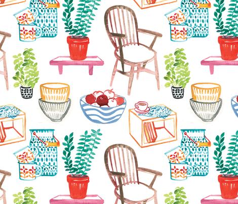 FarmHouses fabric by maiteoz on Spoonflower - custom fabric