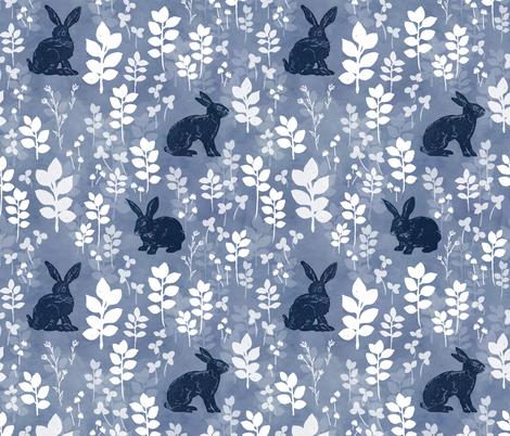 Wild rabbit field fabric by adenaj on Spoonflower - custom fabric