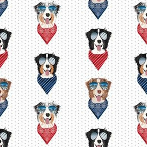 aussie sunglasses australian shepherd summer dog breed pet fabric white