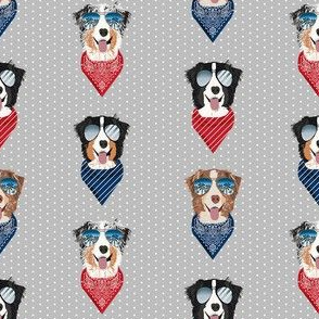 aussie sunglasses australian shepherd summer dog breed pet fabric grey