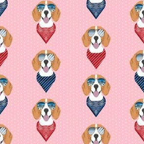 beagle sunglasses summer dog breed pet fabric pink