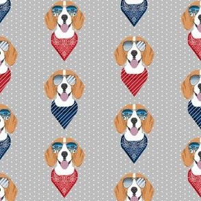 beagle sunglasses summer dog breed pet fabric grey