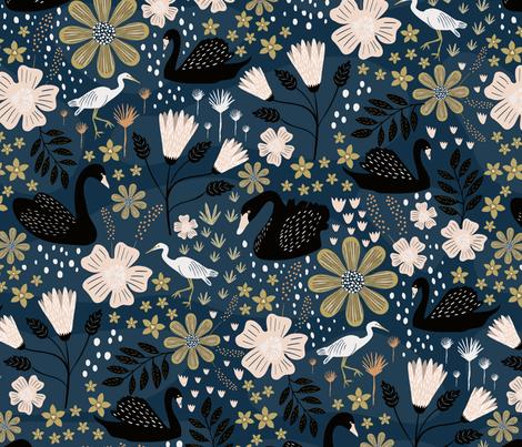 Swan Lake fabric by melarmstrongdesign on Spoonflower - custom fabric
