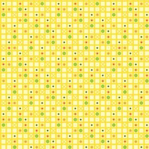 Yellow tic tac circles