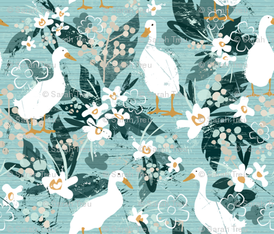 Farmhouse Ducks (Small Version)