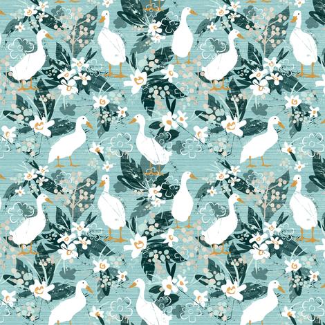 Farmhouse Ducks (Small Version) fabric by sarah_treu on Spoonflower - custom fabric