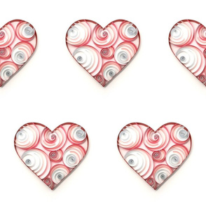 Large Pink Circles Paper Hearts
