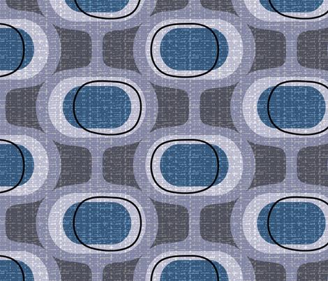 Tweedy Orbs Aegean Mid Century Modern Fabric Ottomanbrim