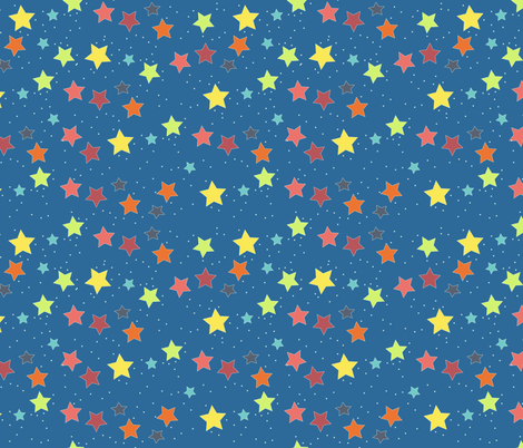 Kids space stars fabric meredith watson spoonflower for Kids space fabric