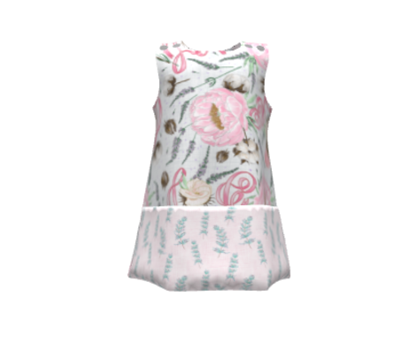 Rosemary Linen (white-pink)