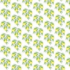 Lovely Lemons in White
