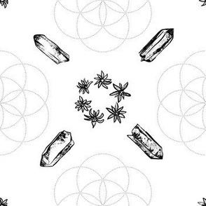 Crystal Flower of Life - White