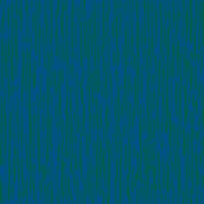 Irregular Vertical Stripes Blue Green