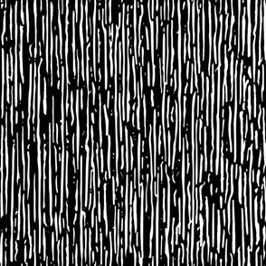 Irregular Vertical Stripes Black White