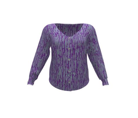 Irregular Vertical Stripes Purple Light Blue