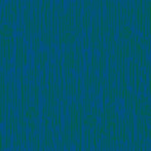 Irregular Vertical Stripes and Rose Blue Green