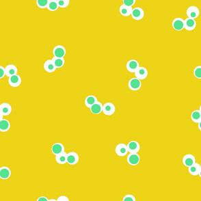 Triple Dot Mustard Light Green