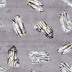 Watercolor Crystals - Dusk