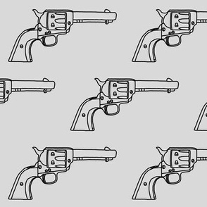 Revolver Sketch on Light Grey // Large