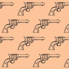 Revolver Sketch on Light Apricot // Small