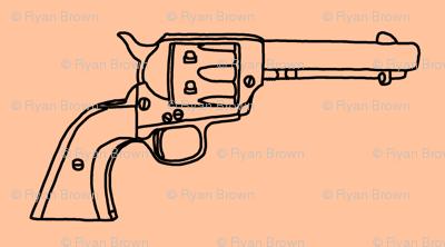 Revolver Sketch on Light Apricot // Large