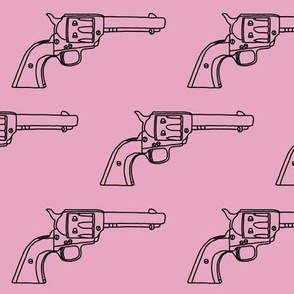 Revolver Sketch on Light Pink // Large