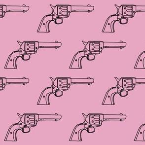 Revolver Sketch on Light Pink // Small