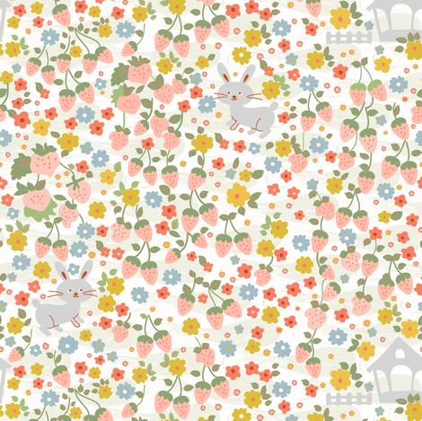 Modern Farmhouse -Colorful staff fabric by morecandyshop on Spoonflower - custom fabric