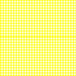GINGHAM UNIQUE YELLOW BRIGHT FABRIC