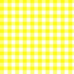 Yellow Gingham - Bright Sunny Summer
