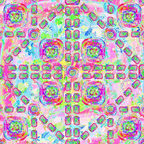S ARTSY FLOWERY PAVEMENT FUNK LIME SWEET PINK FRUITY RAINBOW fresh