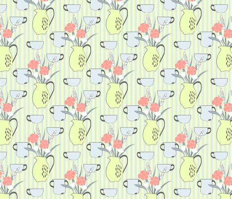 Rustic floral  fabric by ony_ on Spoonflower - custom fabric