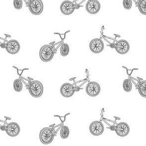 bmx bicycle kids boys fabric sports bike white grey
