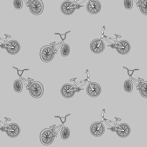 bmx bicycle kids boys fabric sports bike grey fabric by andrea_lauren on Spoonflower - custom fabric