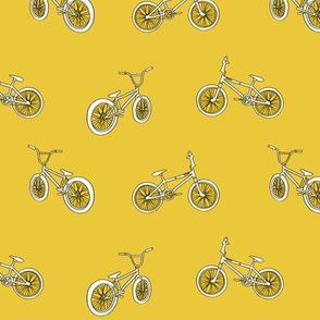 bmx bicycle kids boys fabric sports bike mustard