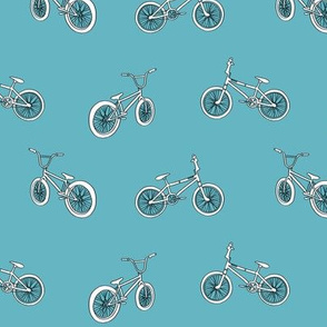 bmx bicycle kids boys fabric sports bike blue
