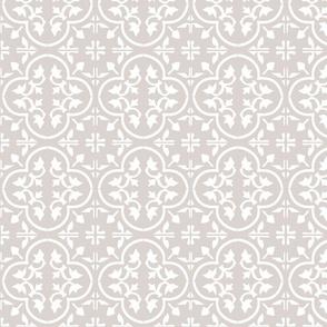 reverse moroccan tile white on beige